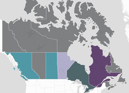 Regional Map Of Canada.Canadian Cluster Map